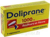 DOLIPRANE 1000 mg Suppositoires adulte 2Plq/4 (8) à PARIS
