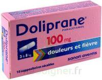 DOLIPRANE 100 mg Suppositoires sécables 2Plq/5 (10) à PARIS