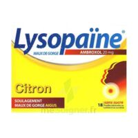LYSOPAÏNE MAUX DE GORGE AMBROXOL CITRON 20 mg SANS SUCRE, pastille édulcorée au sorbitol et au sucralose à PARIS