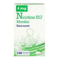 NICOTINE EG 4 mg Gom à mâcher médic sans sucre menthe édulcorée à l'acésulfame potassique et saccha Plq/108 à PARIS