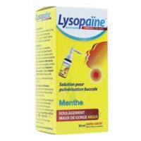 LYSOPAINE Maux Gorge spray AMBROXOL.MENTHE 20ML à PARIS