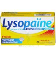 LYSOPAÏNE MAUX DE GORGE CETYLPYRIDINIUM LYSOZYME FRAISE SANS SUCRE, comprimé à sucer édulcoré au sorbitol et à la saccharine à PARIS