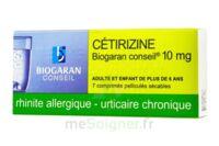 CETIRIZINE BIOGARAN CONSEIL 10 mg, comprimé pelliculé sécable à PARIS